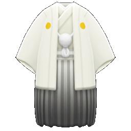 White Hakama With Crest - White