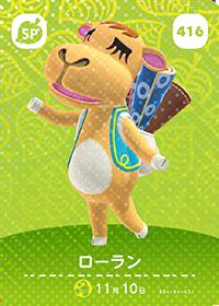Saharah (#416) in Series 5 of Animal Crossing Amiibo Cards