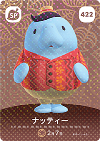 Wardell (#422) in Series 5 of Animal Crossing Amiibo Cards