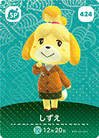 Isabelle (#424) in Series 5 of Animal Crossing Amiibo Cards