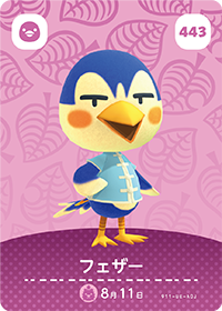 Ace (#443) in Series 5 of Animal Crossing Amiibo Cards