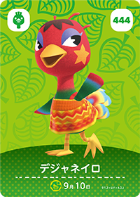Rio (#444) in Series 5 of Animal Crossing Amiibo Cards